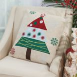 Mina Victory Home for the Holidays Festive Tree Throw Pillow