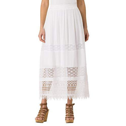 Women's Haggar Lace Maxi Skirt