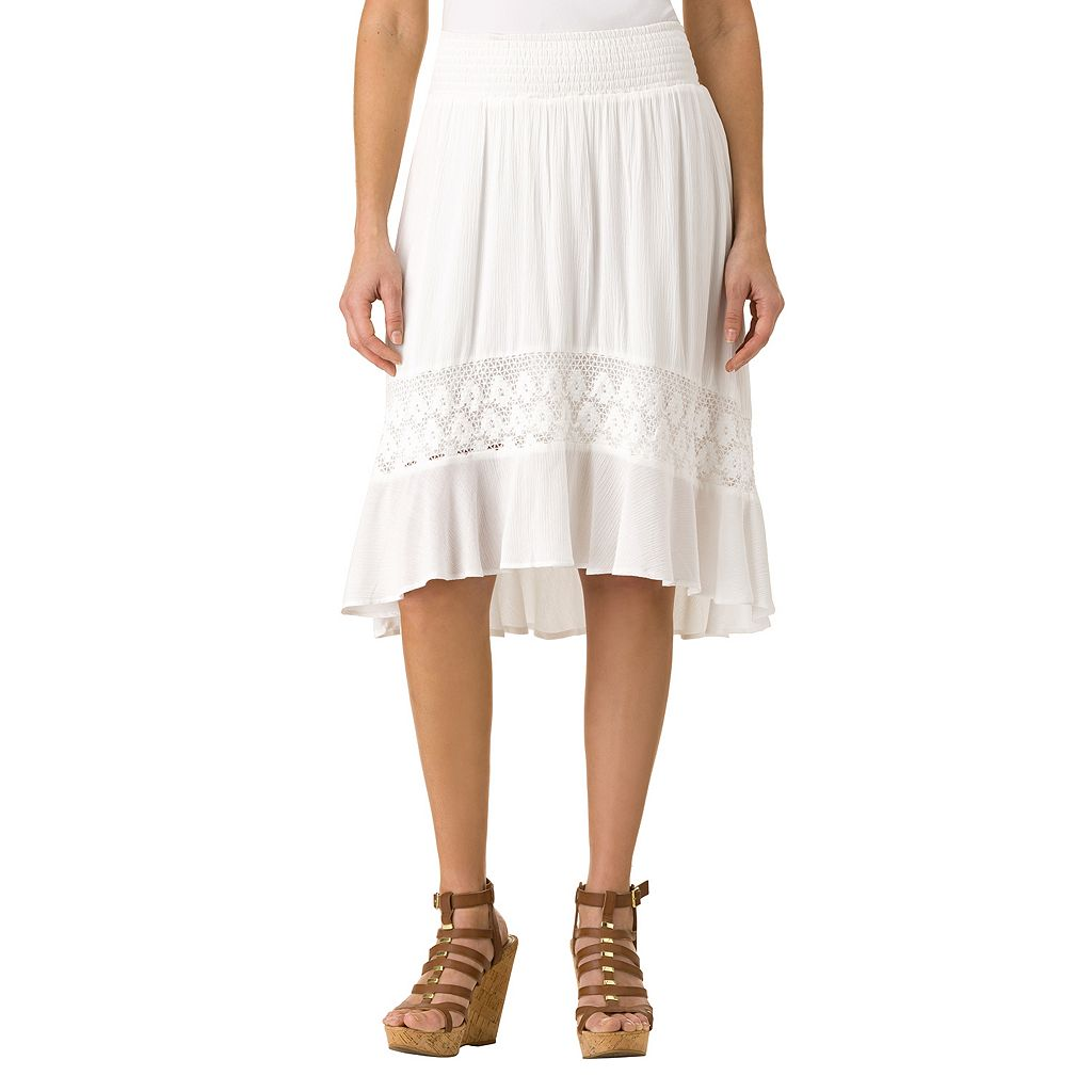 Women's Haggar Lace High-Low Skirt