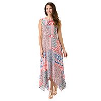 Women's Haggar Patchwork Uneven Hem Maxi Dress