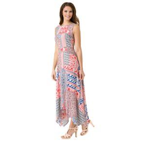 Women's Haggar Patchwork Uneven Hem Maxi Dress