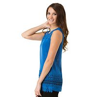 Women's Haggar Lace-Trim Burnout Tank