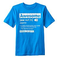 Boys 8-20 Awesome Definition Tee