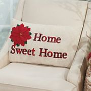 Mina Victory Home for the Holidays ''Home Sweet Home'' Oblong Throw Pillow