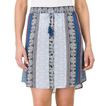 Women's Haggar Print Pull-On Skirt