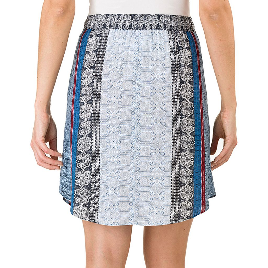 Women's Haggar Print Pull-On Skirt