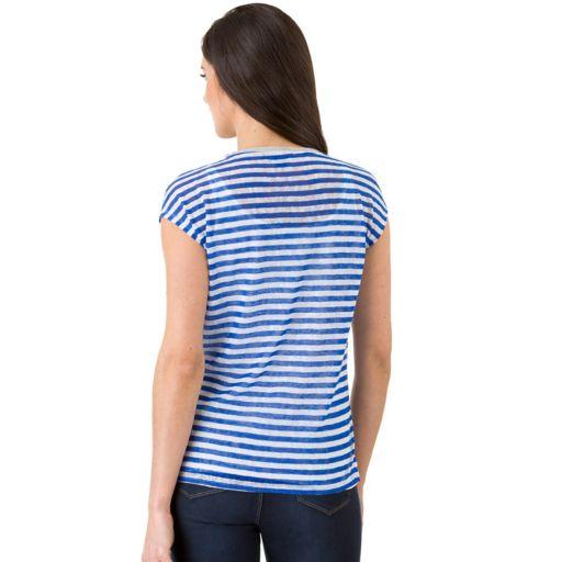 Women's Haggar Striped Drop-Shoulder Top