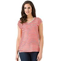Women's Haggar Striped Drop-Shoulder Top