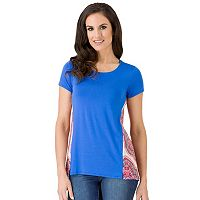 Women's Haggar Back Print Top