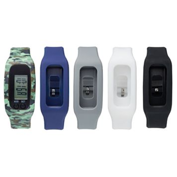 B-Fit Men's Activity Tracker & Interchangeable Band Set -KO5376BK599-078