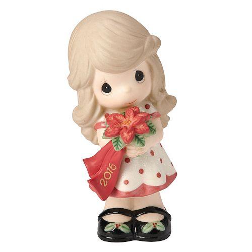 Precious Moments Wishing You A Beautiful Christmas 2016 Girl Figurine