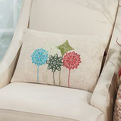 Mina Victory Home for the Holidays Embellished Ornaments Oblong Throw Pillow