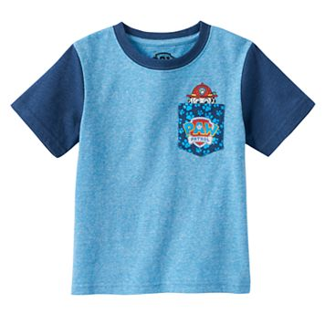 Toddler Boy Paw Patrol Marshall Peek-A-Boo Chest Pocket Tee