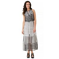 Women's Haggar Chain Neck Crossover Maxi Dress
