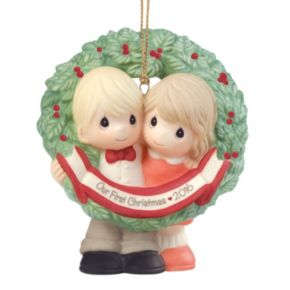 """Precious Moments """"Our First Christmas"""" 2016 Christmas Ornament"""