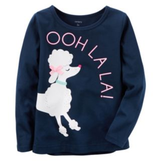"Toddler Girl Carter's ""Ooh La La"" Poodle Tee"