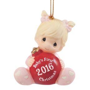 "Precious Moments ""Baby's First Christmas"" Girl 2016 Christmas Ornament"