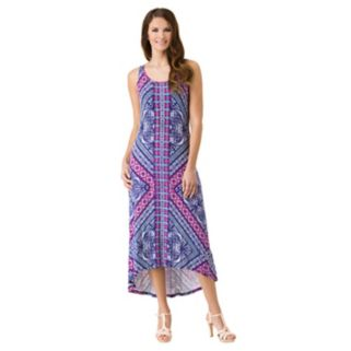 Women's Haggar Geometric High-Low Maxi Dress