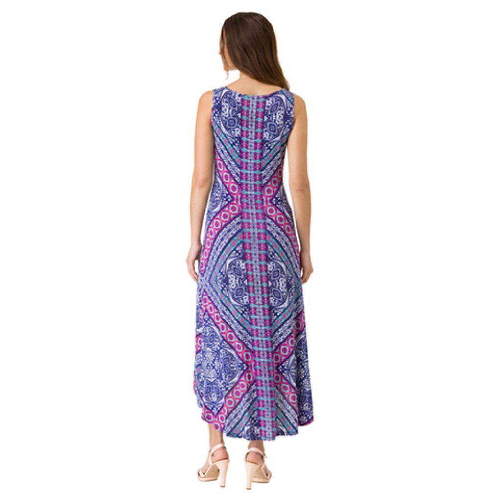Women's Haggar Geometric High-Low Maxi Dress