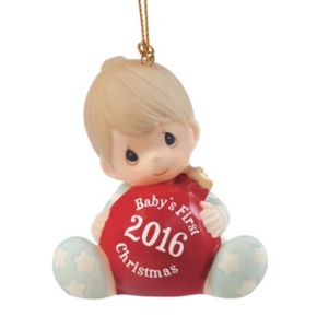 """Precious Moments """"Baby's First Christmas"""" Boy 2016 Christmas Ornament"""