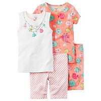 Baby Girl Carter's 4-pc. Fish Tank Top, Tee & Shorts Pajama Set