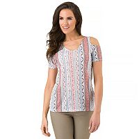 Women's Haggar Cold Shoulder Tee