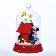 Kurt Adler Snoopy & Doghouse Lighted Dome Christmas Decor