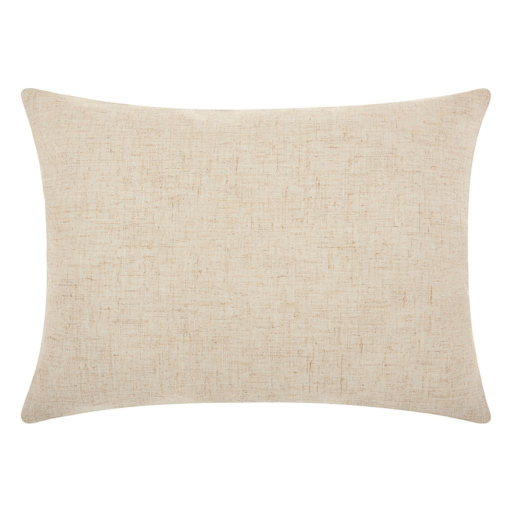 Mina Victory Home for the Holidays ''Happy'' Oblong Throw Pillow