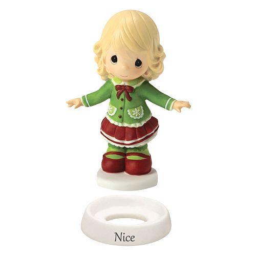 """Precious Moments """"Naughty"""" & """"Nice"""" Christmas Girl Figurine"""