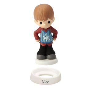 "Precious Moments ""Naughty"" & ""Nice"" Christmas Boy Figurine"