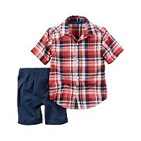 Baby Boy Carter's Button-Front Shirt & Solid Shorts Set
