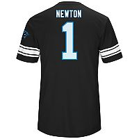 Men's Majestic Carolina Panthers Cam Newton Hashmark Tee