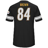 Men's Majestic Pittsburgh Steelers Antoni Brown Hashmark Tee