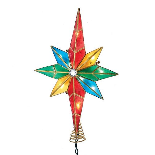 Kurt Adler Pre-Lit Multi-Colored Bethlehem Star Tree Topper