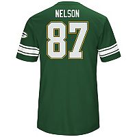 Men's Majestic Green Bay Packers Jordy Nelson Hashmark Tee
