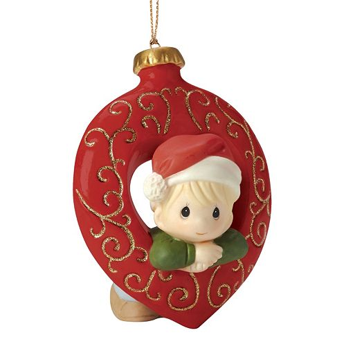 Precious Moments You Fill My Heart Boy Christmas Ornament