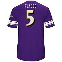 Men's Majestic Baltimore Ravens Joe Flacco Hashmark Tee