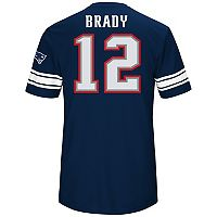 Men's Majestic New England Patriots Tom Brady Hashmark Tee