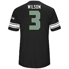 Men's Majestic Seattle Seahawks Russell Wilson Hashmark Tee