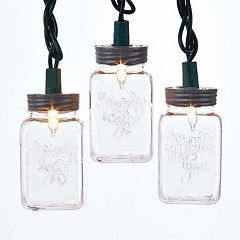 Kurt Adler Mason Jar Light Set