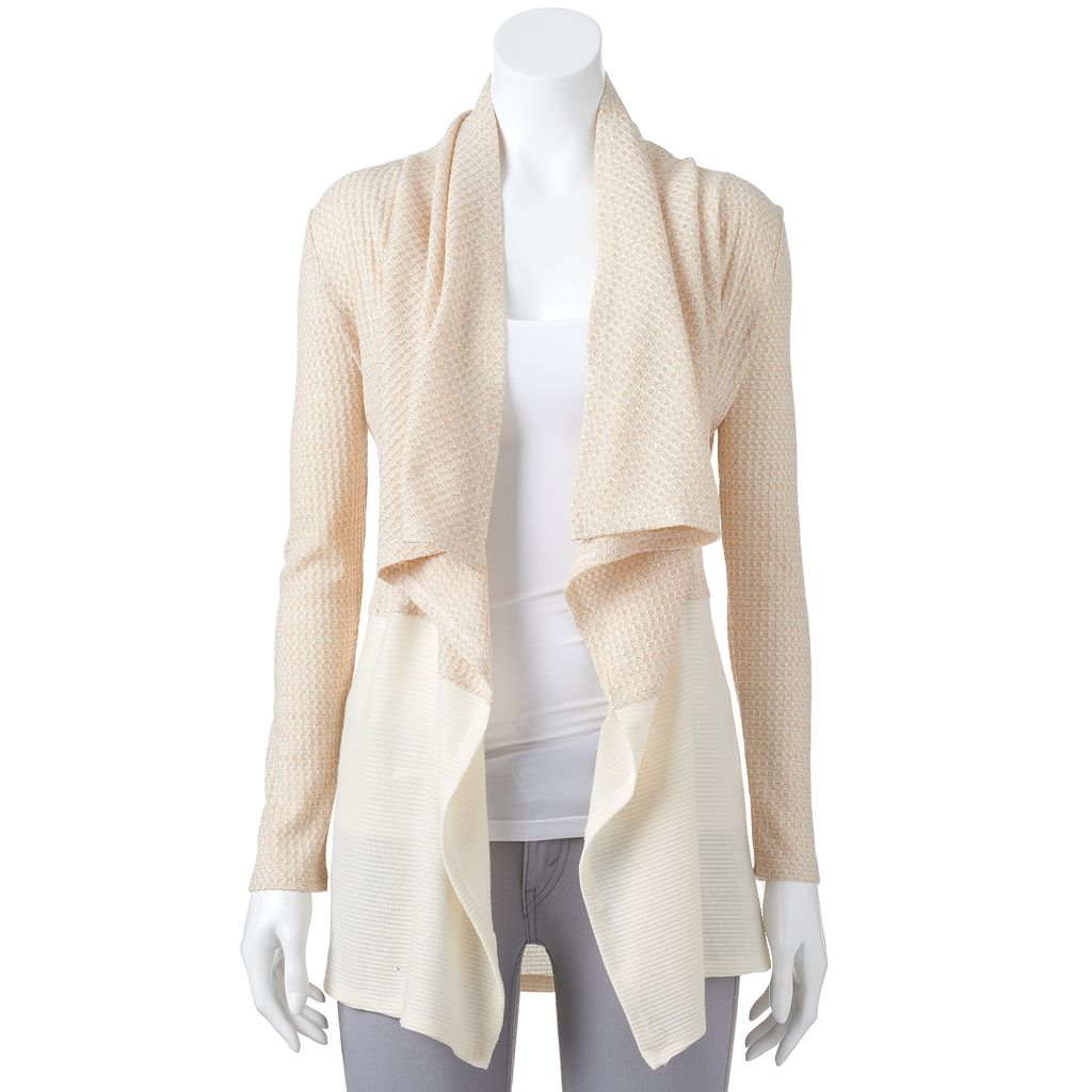 Women's Juicy Couture Textured Metallic Cardigan