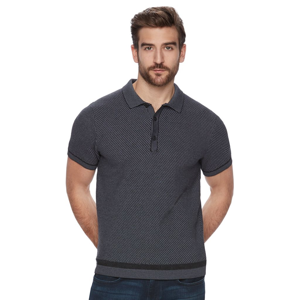 Men's Marc Anthony Slim-Fit Textured Knit Polo
