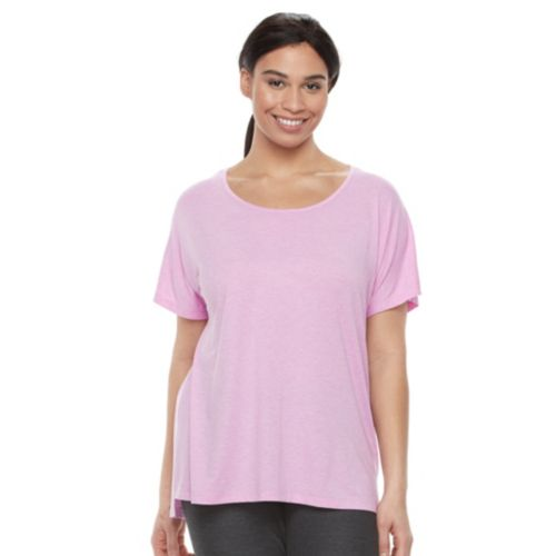 Plus Size Tek Gear® Drop-Shoulder Scoopneck Tee