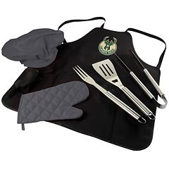 Picnic Time Milwaukee Bucks BBQ Apron & Tote