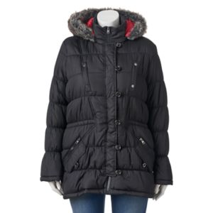 Juniors' Plus Size Urban Republic Hooded Puffy Anorak Jacket