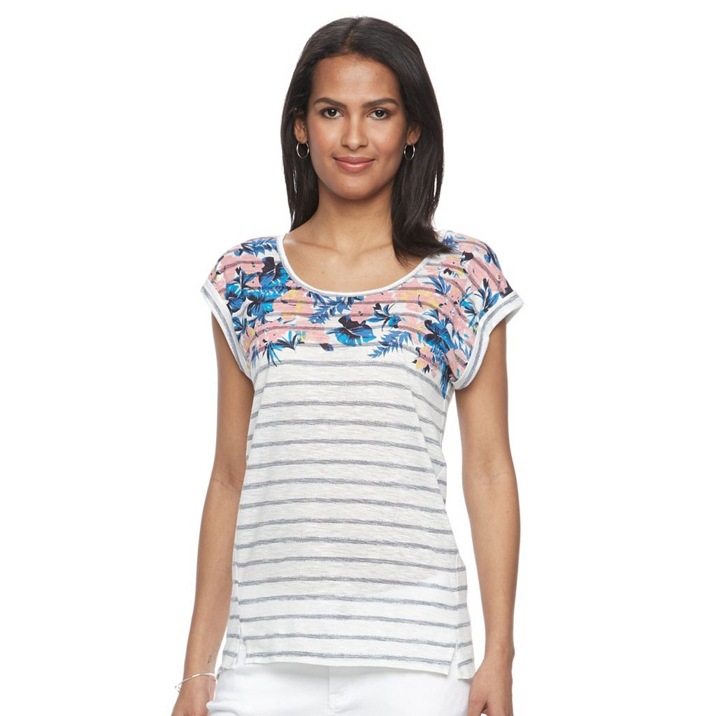 Women's Kate and Sam Tropical High-Low Tee