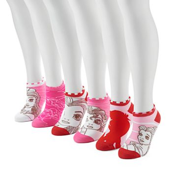 Women's 6-pk. Disney Princess No-Show Socks