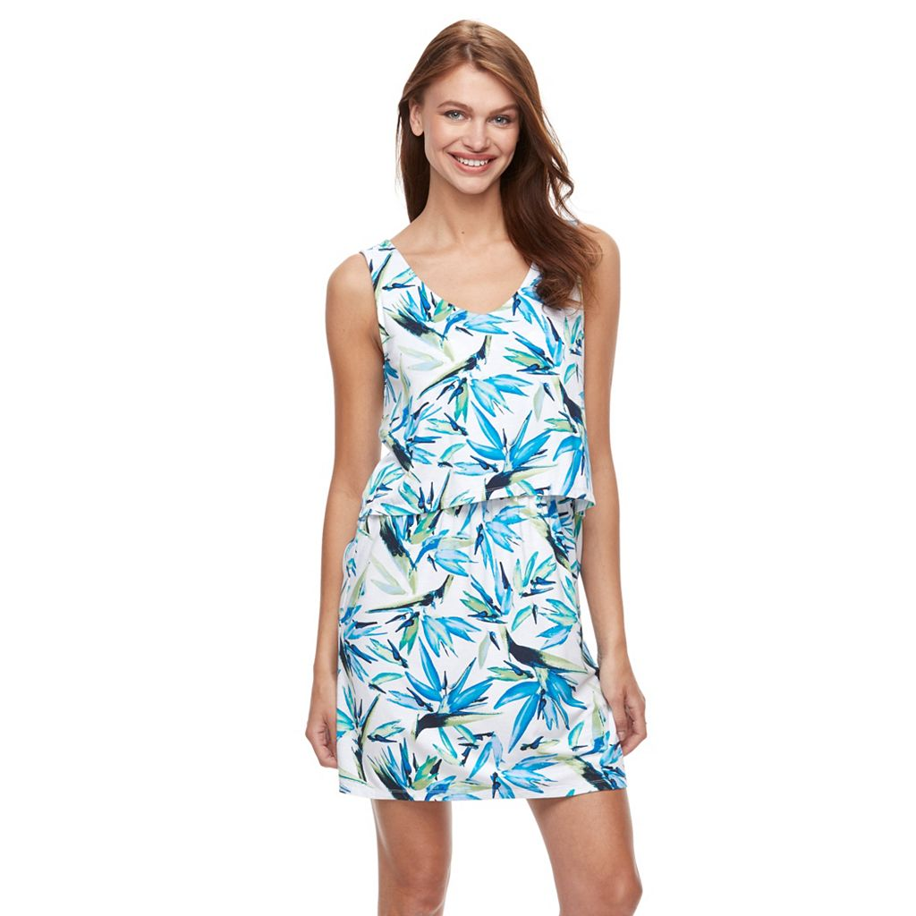 Women's Kate and Sam Printed Popover Dress