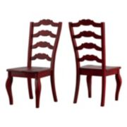 HomeVance Wood Ladderback Dining Chair 2-piece Set