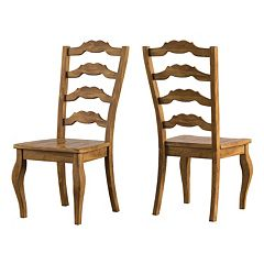 HomeVance Wood Ladderback Dining Chair 2 pc Set
